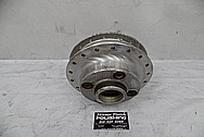 Honda Motorcycle Wheel Brake Hub BEFORE Chrome-Like Metal Polishing and Buffing Services / Restoration Services - Aluminum Polishing Services