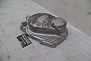 Honda Motorcycle Engine Cover Piece BEFORE Chrome-Like Metal Polishing and Buffing Services / Restoration Services - Aluminum Polishing Services
