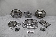 Honda Motorcycle Engine Parts BEFORE Chrome-Like Metal Polishing and Buffing Services / Restoration Services - Aluminum Polishing Services
