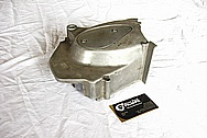 Kawasaki KZ 1000 Aluminum Motorcycle Engine Cover BEFORE Chrome-Like Metal Polishing and Buffing Services