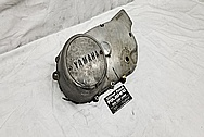 1978 Yamaha XS650 Motorcycle Aluminum Engine Cover BEFORE Chrome-Like Metal Polishing and Buffing Services / Restoration Services - Aluminum Polishing - Motorcycle Polishing
