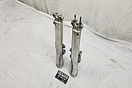 Aluminum Front Motorcycle Lower Forks BEFORE Chrome-Like Metal Polishing and Buffing Services / Restoration Services - Aluminum Polishing