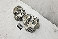 Motorcycle Aluminum Cylinder Heads BEFORE Chrome-Like Metal Polishing and Buffing Services / Restoration Services - Aluminum Polishing