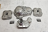 Harley Davidson Aluminum Motorcycle Parts BEFORE Chrome-Like Metal Polishing and Buffing Services - Aluminum Polishing Services