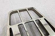 Yamaha V-Max Motorcycle Aluminum Luggage Rack BEFORE Chrome-Like Metal Polishing and Buffing Services - Aluminum Polishing Services