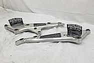 Aluminum Motorcycle Brackets BEFORE Chrome-Like Metal Polishing and Buffing Services - Aluminum Polishing Services