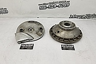 Motorcycle Aluminum Hub Pieces BEFORE Chrome-Like Metal Polishing - Aluminum Polishing Services