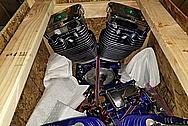 Harley Davidson Aluminum S&S Engine, Aluminum Heads, Aluminum Cylinders, Aluminum Transmissions Project BEFORE Chrome-Like Metal Polishing - Aluminum Polishing Services