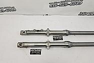 Motorcycle Aluminum Fork Legs BEFORE Chrome-Like Metal Polishing and Buffing Services - Aluminum Polishing