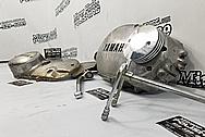 Yamaha Aluminum Motorcycle Parts BEFORE Chrome-Like Metal Polishing and Buffing Services - Aluminum Polishing