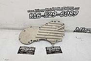 Aluminum Motorcycle Engine Cover BEFORE Chrome-Like Metal Polishing and Buffing Services - Aluminum Polishing