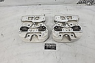 Harley Davidson Motorcycle Aluminum Cylinder Heads BEFORE Chrome-Like Polishing and Buffing - Aluminum Polishing