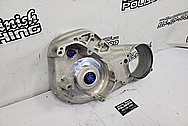 Harley Davidson Aluminum Motorcylce Primary Engine Cover BEFORE Chrome-Like Metal Polishing - Aluminum Polishing