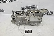 Harley Davidson Aluminum Engine Block BEFORE Chrome-Like Metal Polishing and Buffing Services / Restoration Services - Aluminum Polishing