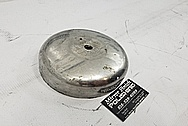 1948 Harley Davidson Stainless Steel Air Cleaner BEFORE Chrome-Like Polishing and Buffing - Stainless Steel Polishing