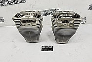 Harley Davidson Motorcycle Cylinders and Heads BEFORE Chrome-Like Metal Polishing and Buffing Services / Restoration Services - Aluminum Polishing - Motorcycle Polishing