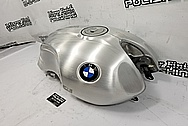 BMW Nine-T Motorcycle Aluminum Tank and Cover Piece BEFORE Chrome-Like Metal Polishing and Buffing Services / Restoration Services - Aluminum Polishing - Motorcycle Polishing