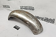 Stainless Steel Motorcycle Front Fender BEFORE Chrome-Like Metal Polishing and Buffing Services / Restoration Services - Stainless Steel Polishing - Motorcycle Polishing
