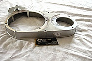 1948 Indian Motorcycle Aluminum Engine Piece BEFORE Chrome-Like Metal Polishing and Buffing Services