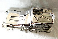 1950 Mercury Lead Sled Aluminum Engine Oil Pan AFTER Chrome-Like Metal Polishing and Buffing Services / Restoration Services