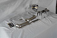 Holley Performance Aluminum Engine Oil Pan AFTER Chrome-Like Metal Polishing and Buffing Services / Restoration Services