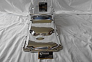Aluminum Holley Oil Pan AFTER Chrome-Like Metal Polishing and Buffing Services / Restoration Services
