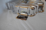 B&M Aluminum Oil Pan AFTER Chrome-Like Metal Polishing and Buffing Services - Aluminum Polishing Services