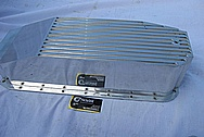 Aluminum Oil Pan BEFORE Chrome-Like Metal Polishing and Buffing Services / Painting Services
