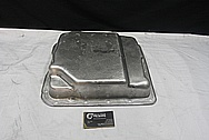 Aluminum Transmission Oil Pan BEFORE Chrome-Like Metal Polishing and Buffing Services / Restoration Services