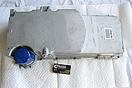 GM LS3 376 Cubic Inch Engine Aluminum Oil Pan BEFORE Chrome-Like Metal Polishing and Buffing Services