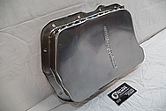 Aluminum Oil Pan BEFORE Chrome-Like Metal Polishing and Buffing Services / Restoration Services