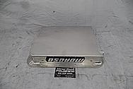 Moroso Aluminum Oil Pan BEFORE Chrome-Like Metal Polishing and Buffing Services - Aluminum Polishing - Oil Pan Polishing