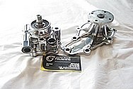 Mazda RX7 Rotary Aluminum Power Steering Pump AFTER Chrome-Like Metal Polishing and Buffing Services / Restoration Services