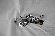 Jaguar Aluminum Oil Inlet Piece AFTER Chrome-Like Metal Polishing and Buffing Services / Restoration Services
