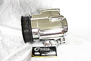 Saleen Mustang Aluminum Pump Housing AFTER Chrome-Like Metal Polishing and Buffing Services / Restoration Services