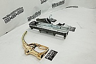 Aluminum and Brass Oil/Gas Pump Parts AFTER Chrome-Like Metal Polishing - Aluminum and Brass Polishing Services