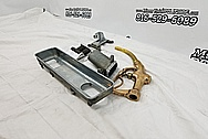 Aluminum and Brass Oil/Gas Pump Parts BEFORE Chrome-Like Metal Polishing - Aluminum and Brass Polishing Services