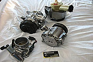 Saleen Mustang Aluminum Power Steering Pump BEFORE Chrome-Like Metal Polishing and Buffing Services / Restoration Services