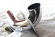 Powdercoated Aluminum Pipe AFTER Chrome-Like Metal Polishing and Buffing Services