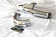 Nissan Skyline Aluminum Intercooler Pipe AFTER Chrome-Like Metal Polishing and Buffing Services / Restoration Services