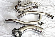 Stainless Steel Exhaust Piping AFTER Chrome-Like Metal Polishing and Buffing Services / Restoration Services