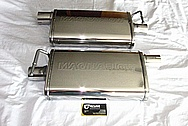 Stainless Steel Magnaflow Muffler System AFTER Chrome-Like Metal Polishing and Buffing Services / Restoration Services