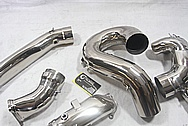 Titanium Motorcycle Racing Pipes AFTER Chrome-Like Metal Polishing and Buffing Services / Restoration Services