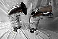 2014 Air Tractor Stainless Steel Engine Stacks / Pipes AFTER Chrome-Like Metal Polishing and Buffing Services / Restoration Service