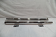 Triumph Motorcycle Stainless Steel Exhaust Pipes AFTER Chrome-Like Metal Polishing - Aluminum Polishing