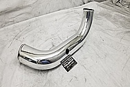 1993 - 1998 Toyota Supra Aluminum Intercooler Pipe AFTER Chrome-Like Metal Polishing - Aluminum Polishing Services