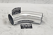 Aluminum Intercooler Pipe AFTER Chrome-Like Metal Polishing and Buffing Services - Aluminum Polishing