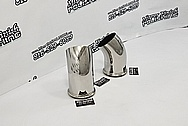 Stainless Steel Exhaust Pipe AFTER Chrome-Like Metal Polishing and Buffing Services - Stainlees Steel Polishing