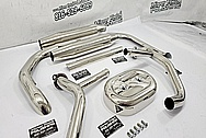 Harley Davidson Stainless Steel Pipes AFTER Chrome-Like Metal Polishing and Buffing Services / Restoration Services - Pipe Polishing - Steel Polishing