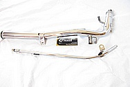 2006 Mitsubishi EVO 9 Aluminum Piping AFTER Chrome-Like Metal Polishing and Buffing Services Plus Clearcoating Services